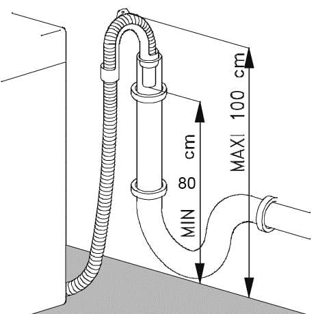 схема сливного шланга