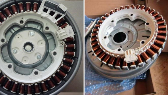 разобранный инверторный двигатель