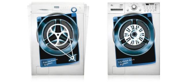 две стиральные машины с разными приводами