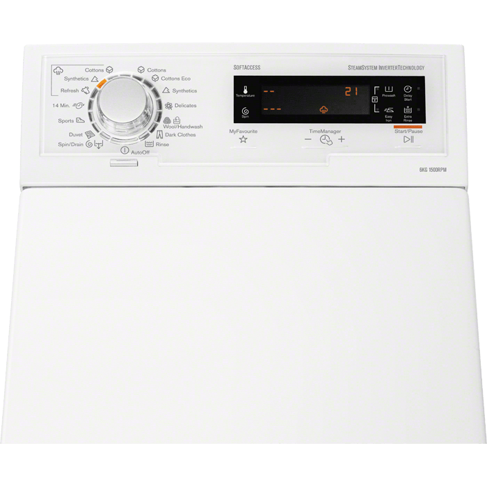 Стиральная машина Electrolux с вертикальной загрузкой